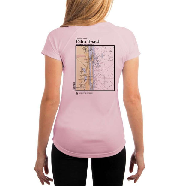 Coastal Classics Palm Beach Womens Upf 5+ Uv/sun Protection Performance T-Shirt Pink Blossom / X-Small Shirt