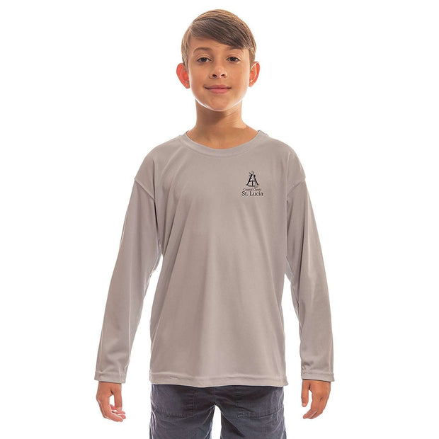 Altered Latitudes Coastal Classics Saint Lucia Youth UPF 5+ UV/Sun Protection Long Sleeve T-Shirt - Altered Latitudes