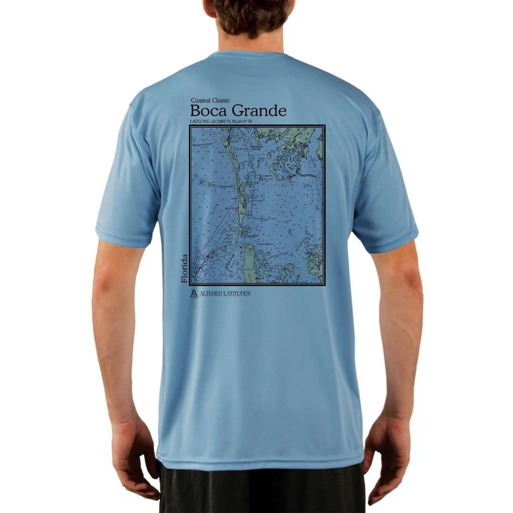 Coastal Classics Boca Grande Mens Upf 50+ Uv/sun Protection Performance T-Shirt Columbia Blue / X-Small Shirt
