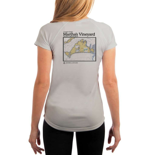 Coastal Classics Marthas Vineyard Womens Upf 5+ Uv/sun Protection Performance T-Shirt Pearl Grey / X-Small Shirt
