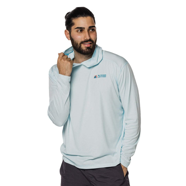 Men's Sun Protection Performance Long Sleeve Hoodie - Signature Logo
