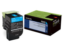 701C Cyan Return Program Toner Cartridge
