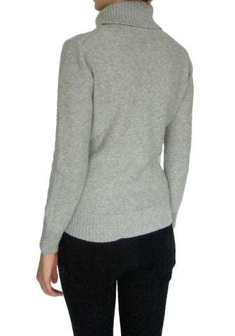Ladies 100% Cashmere Knitted Sweater Turtle Neck