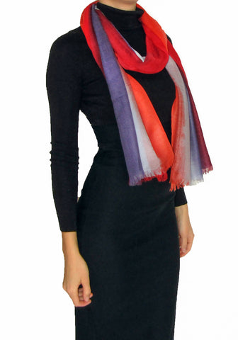 100% Cashmere Scarf for Women Veil Collection Warm Waves