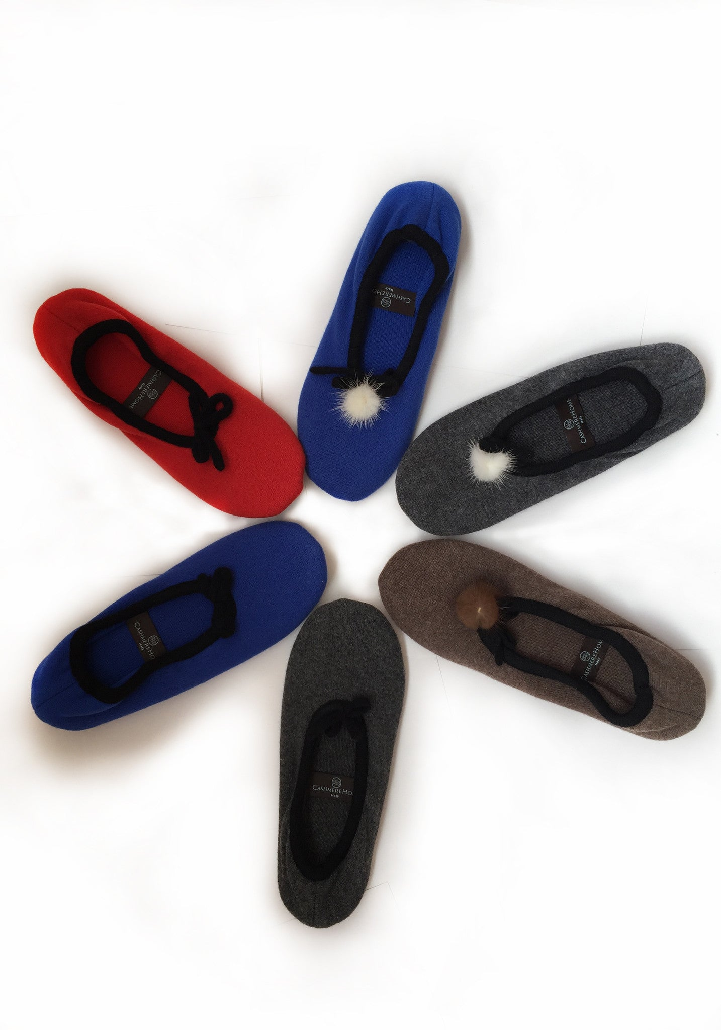 Slippers for Home Wear in Grey 100% Cashmere