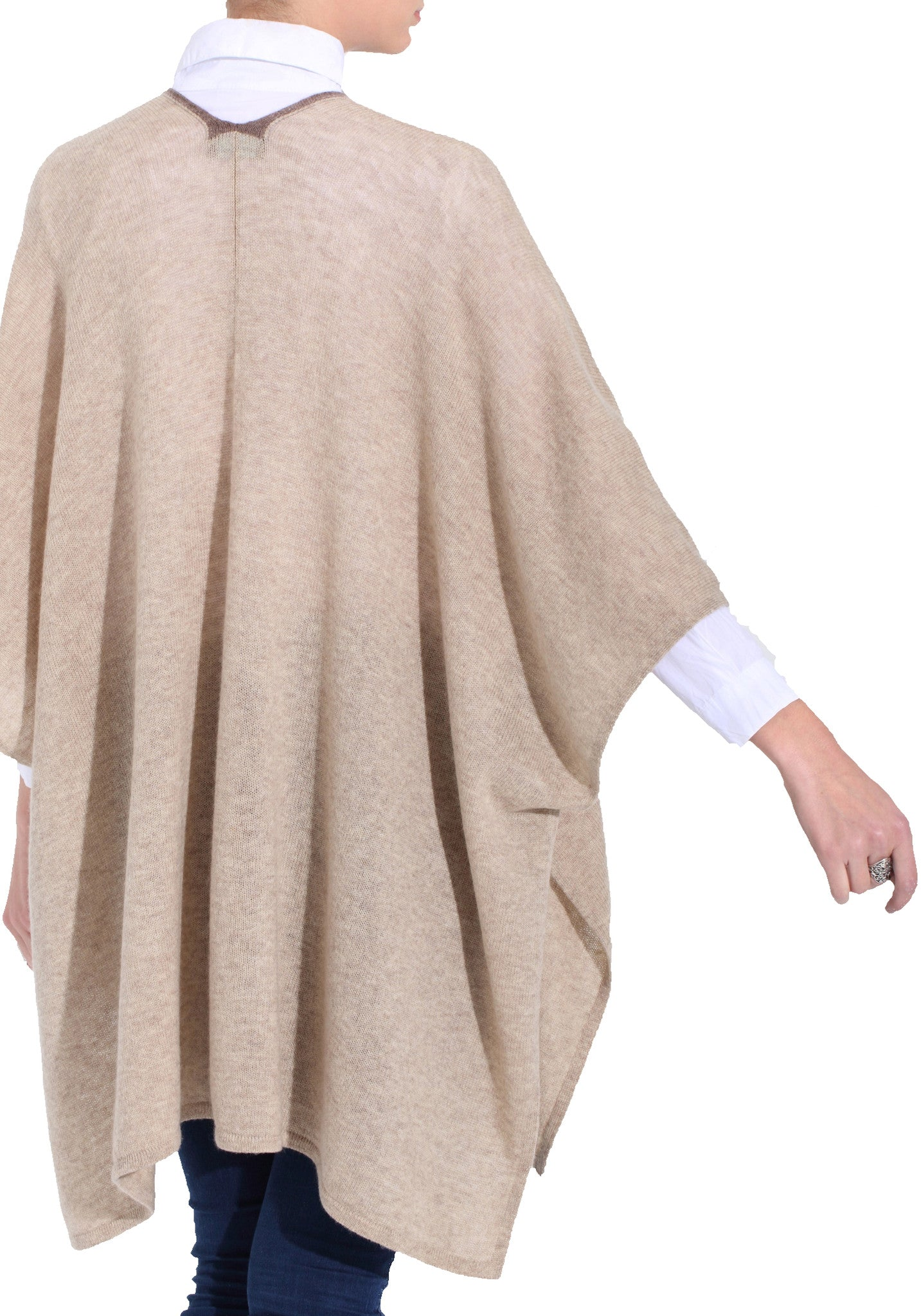Poncho Open Front 100% Cashmere