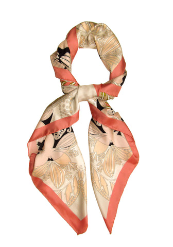CashmereHome Silk Square Scarf Floral Dream
