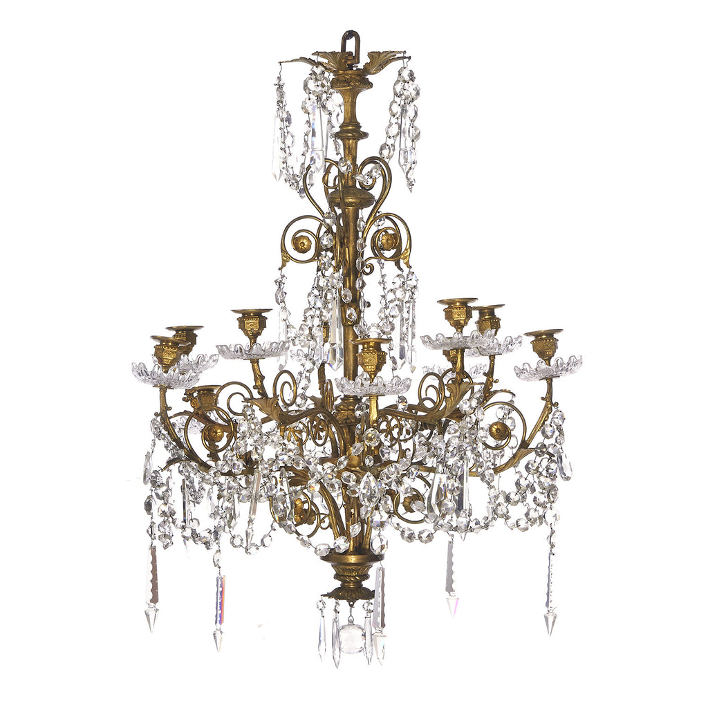French belle epoque gilt bronze and cut glass chandelier decorum french belle epoque gilt bronze and cut glass chandelier aloadofball Choice Image