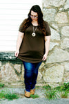 Olive Triple Threat Top {Curvy}