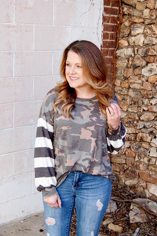 Hiding Out Camo Long Sleeve Tee