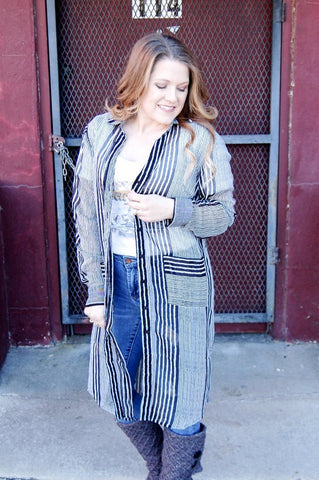 Chive & Ivory Striped Tunic