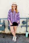 Peace Love Cake purple viper mia tunic.  Snakeskin tunic. Purple snake skin.