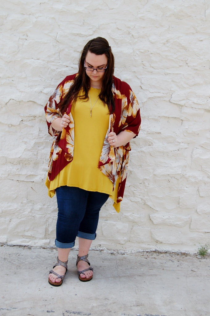 Mustard Pocket Tunic - Kade & Cate
