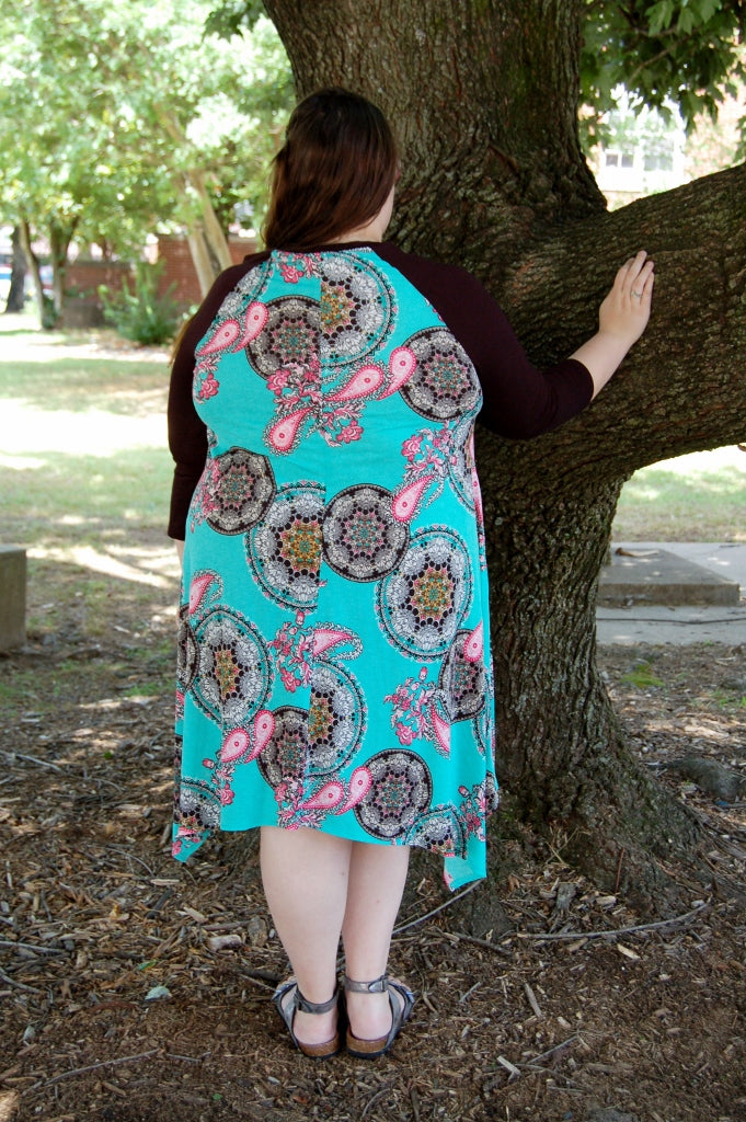 Mint Paisley Dress - Kade & Cate