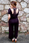 Looking Back Black Romper