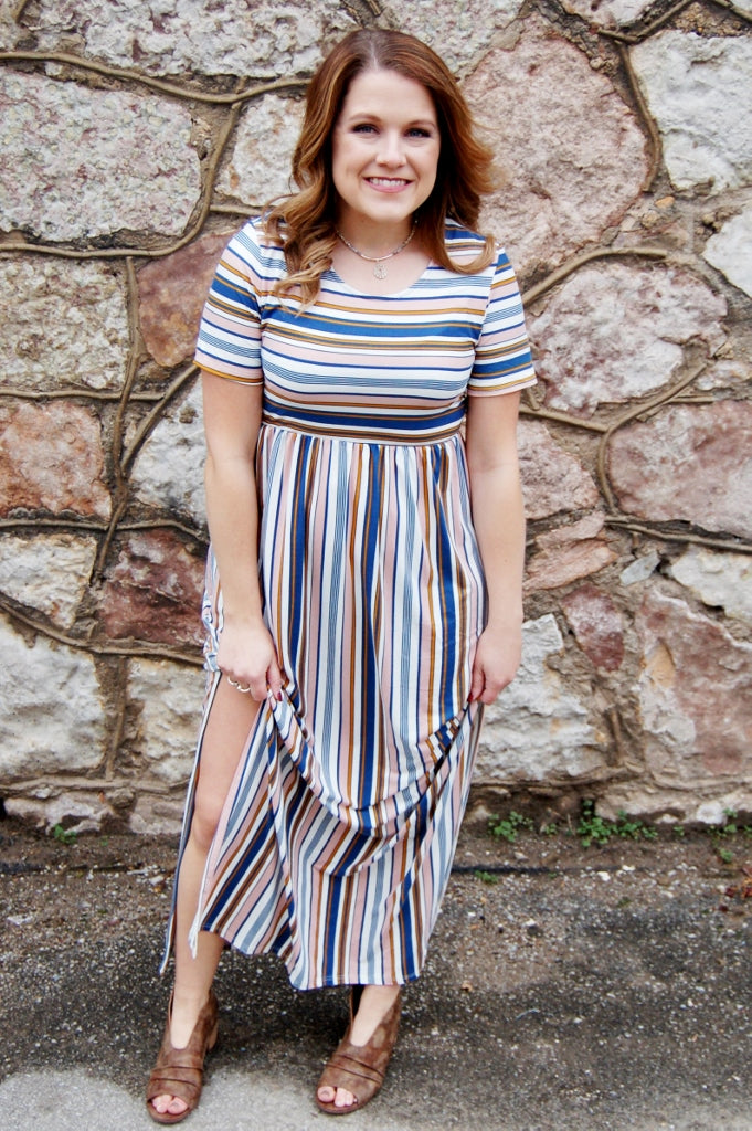 Always Fabulous Striped Maxi Dress - Kade & Cate