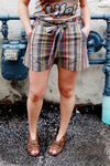 Dream On High Waist Belted Shorts - Kade & Cate