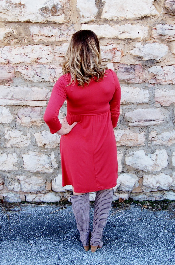 Front Twist Dress - Kade & Cate