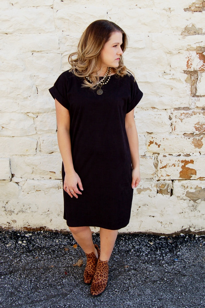 Button Back Corduroy Dress - Kade & Cate