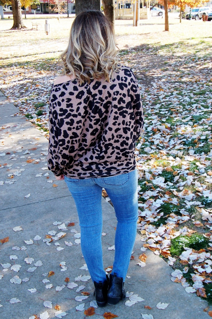 Leopard Boat Neck Top