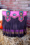 Western Bohemian style conceal and carry shoulder bag by montana west.