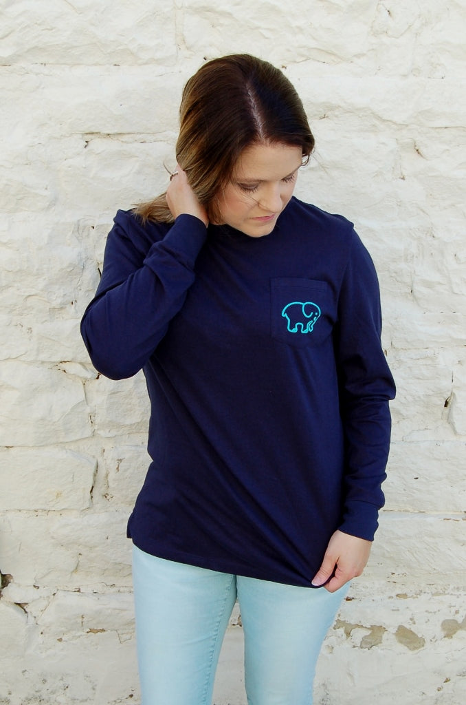 Ivory Ella Ombre Paisley L/S Tee - Kade & Cate