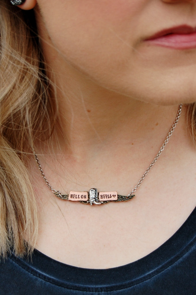 Hell on Heels Necklace - Kade & Cate