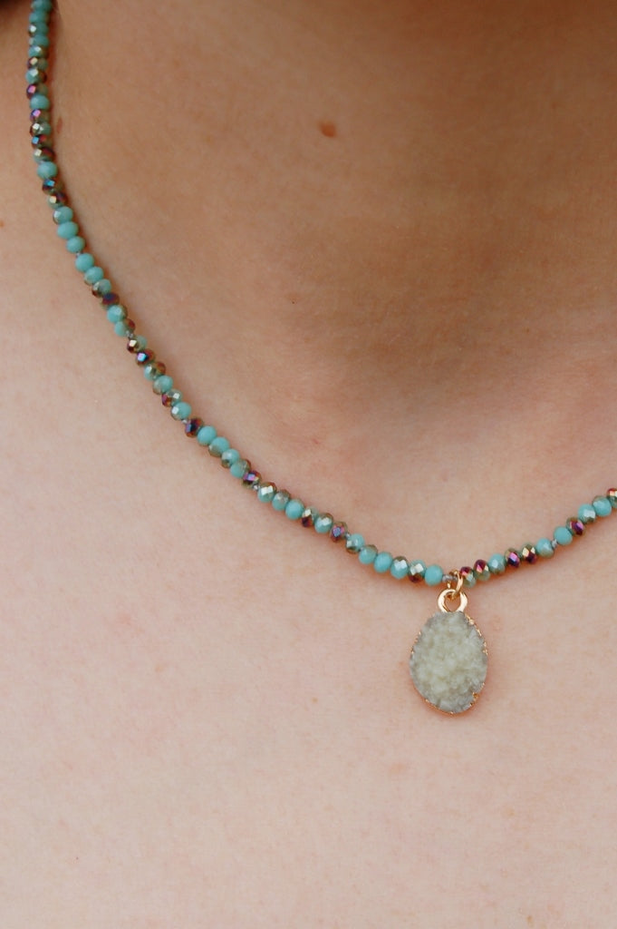 Charming Druzy Necklace - Kade & Cate