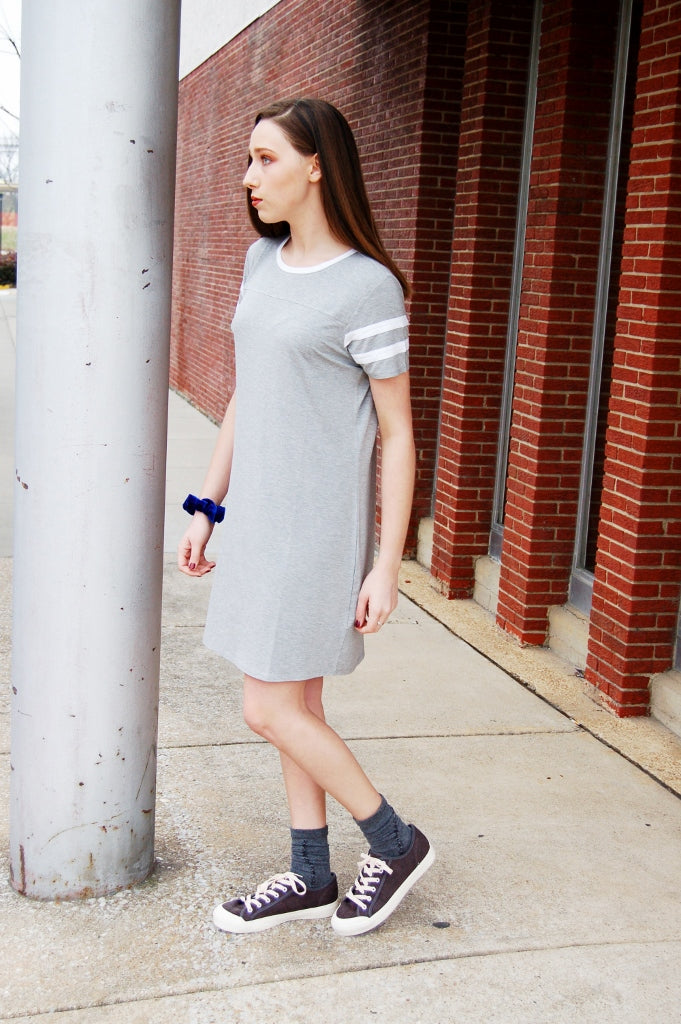 Coco Baseball Tee Dress - Kade & Cate