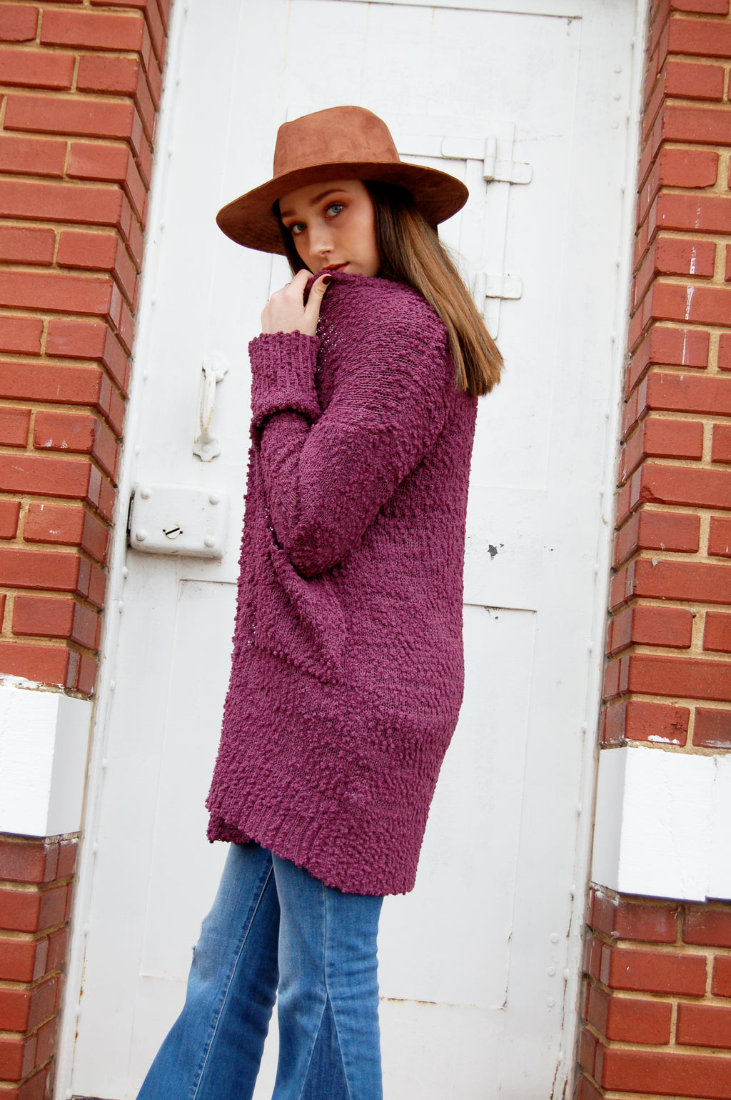 Popcorn cardigan with pockets.  Lightweight Spring cardigan.