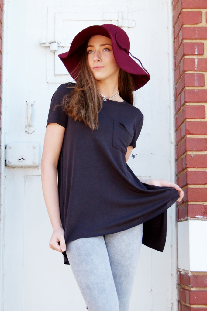 Paris Split Back Tee