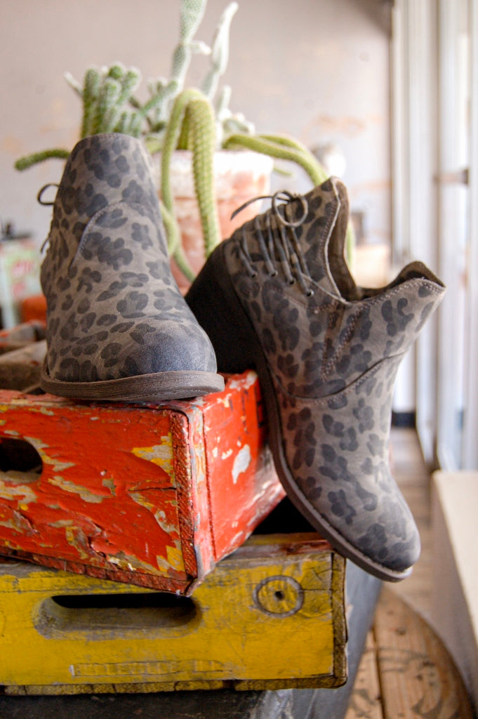 Great Smoky Leopard Ankle Booties