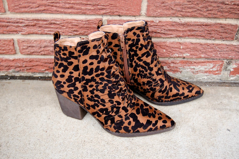 Leader of the Pack Leopard Bootie - Kade & Cate