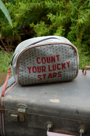 Count Your Lucky Stars Cosmetic Bag - Kade & Cate