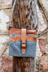 Mona B Intermix crossbody handbag. Upcycled eco friendly vintage bohemian style festival crossbody handbag.