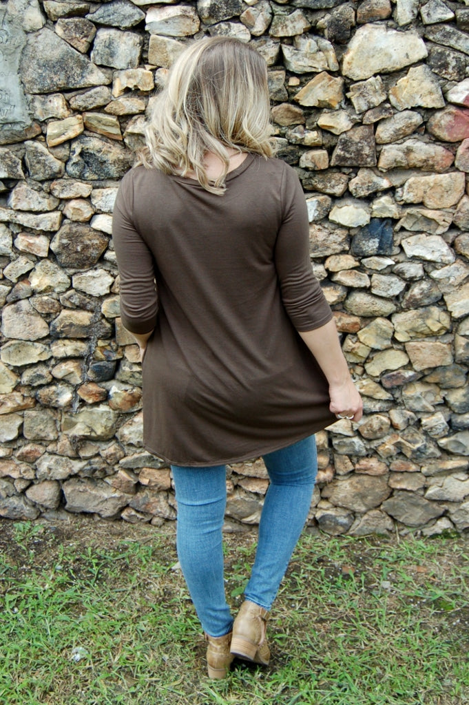 Olive Triple Threat Top