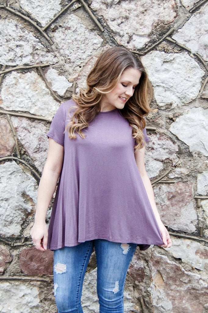 Lace Back Swing Top - Kade & Cate