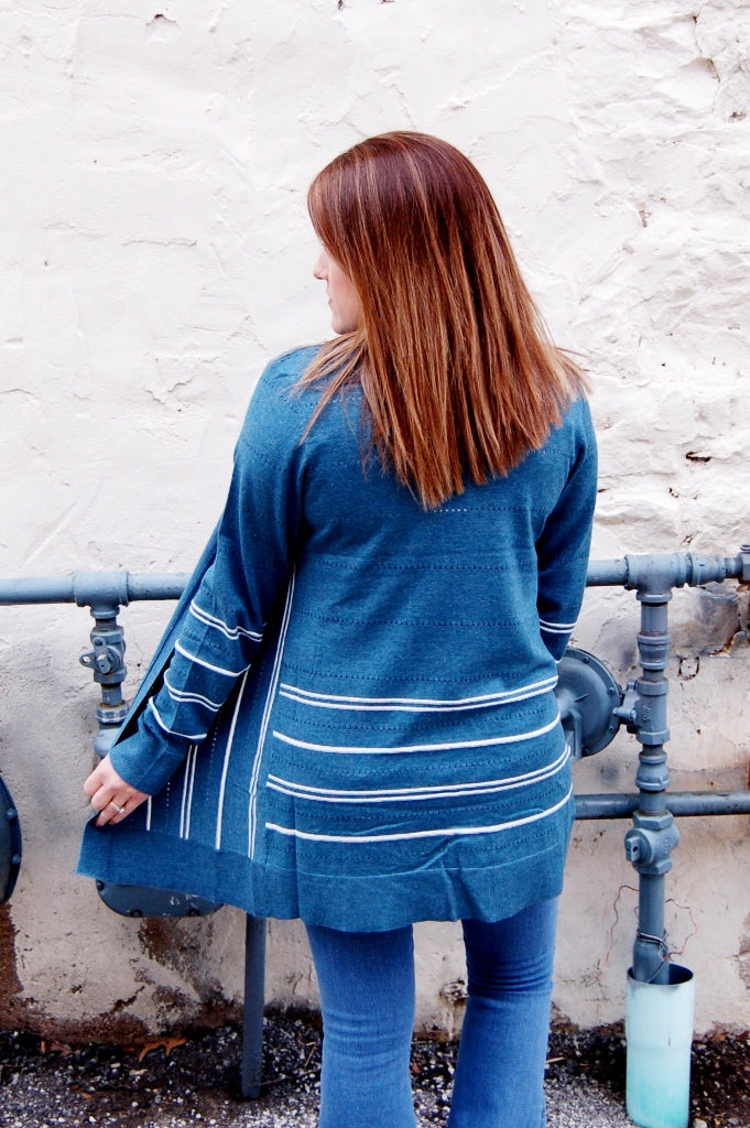 Take Me Away Stripe Detail Cardigan