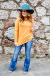 Saffron Mock Neck Top - Kade & Cate