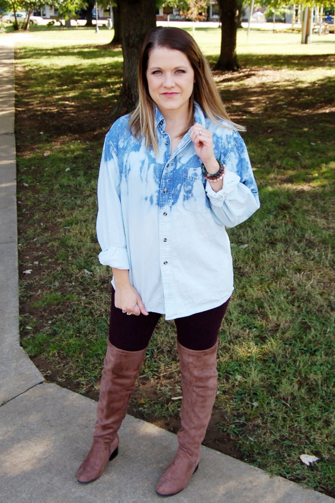 Betty Buffalo Denim Button Up - Kade & Cate