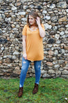 Ash Mustard Caged Top - Kade & Cate