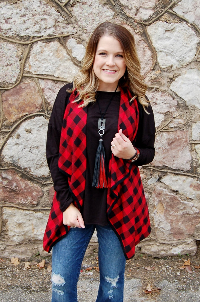 Buffalo Plaid Vest - Kade & Cate