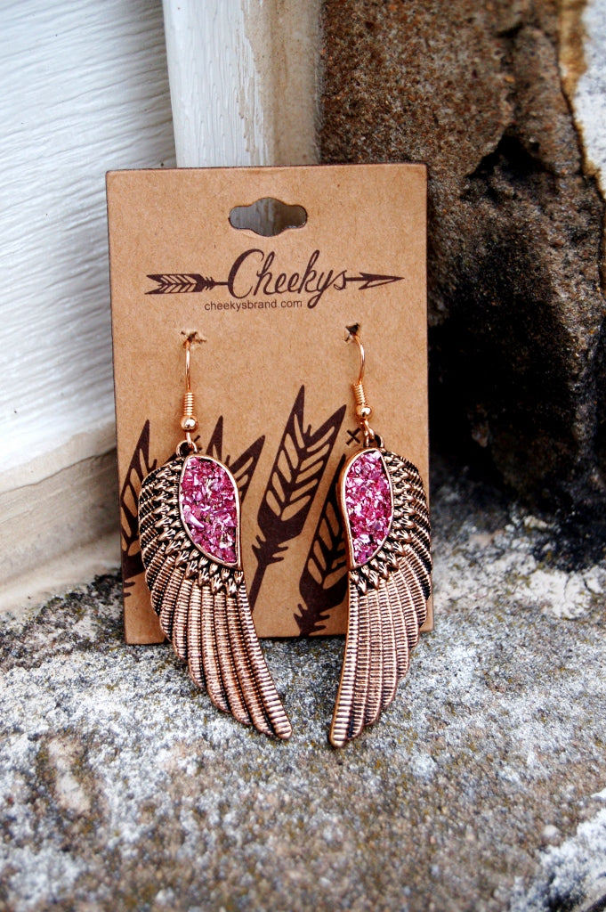 Angel Wing Earrings - Kade & Cate