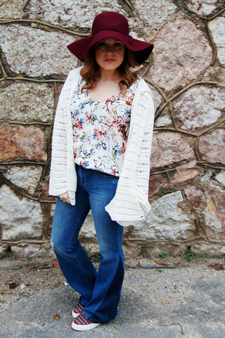 Aria Whitewashed Button Down Top