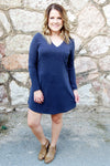 Katie Pocket L/S Tee Shirt Dress - Kade & Cate