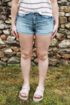 Dream On High Waist Belted Shorts