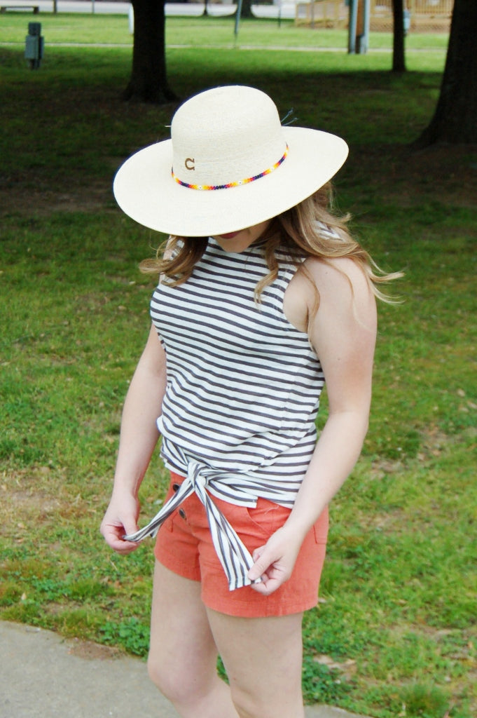 Chesapeak Striped Front Tie Top