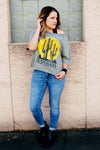 Desperado Destroyed Raglan Sweatshirt - Kade & Cate
