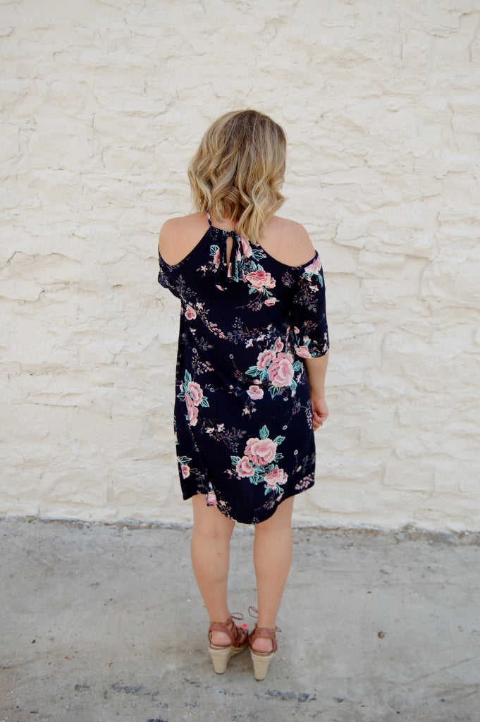 Livin the Dream Cold Shoulder Dress - Kade & Cate