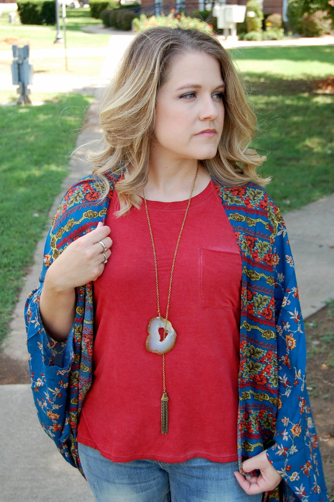 Lemon Song Lariat Necklace - Kade & Cate
